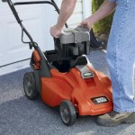 Black & Decker CM1936 cordless mower with removable battery